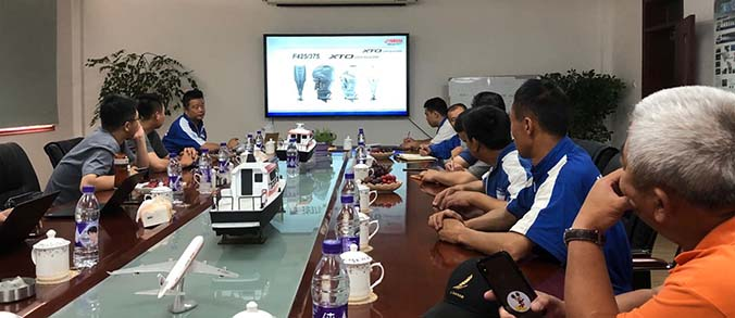 On June 9, 2020, technicians from Yamaha Shanghai Headquarters came to Haoyun Company for systematic training